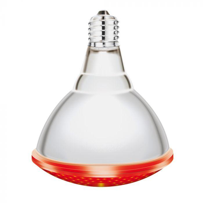 Lot de 2 Lampes IR rouges Interheat 250W