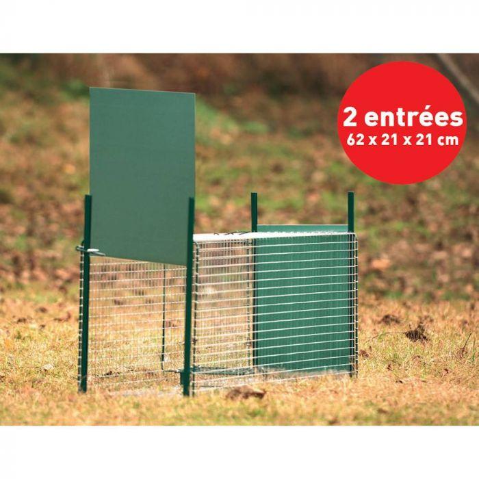 Boîte à fauve, 2 entrées, 64 x 21 x 21 cm - BOXTRAP