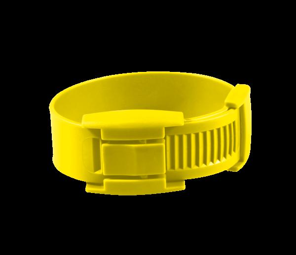 10 bracelets en plastique jaune