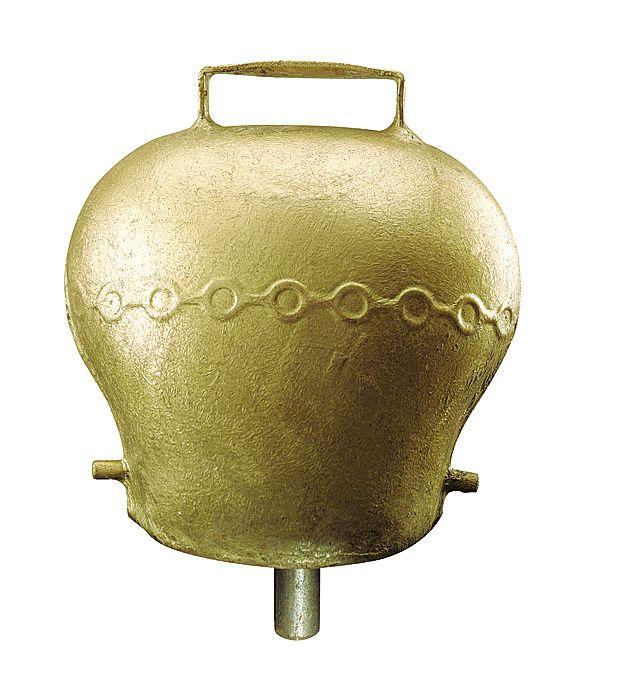 Cloche en acier bombé coloris bronze 90 mm